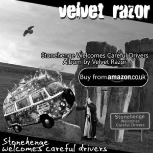 Velvet Razor's latest release on Amazon – Stonehenge Welcomes Careful Drivers